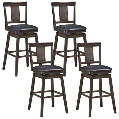 1PC\2PCS\3PCS\4PCS Swivel Bar Stool 29 inch Upholstered Pub Height Bar Chair with Rubber Wood Leg