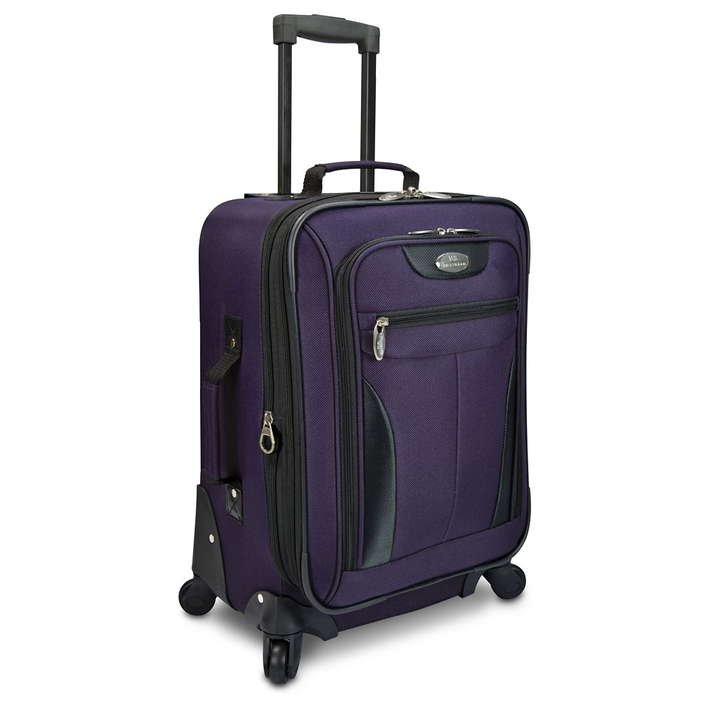 U.S. Traveler Charleville 20 Spinner Suitcase - Purple