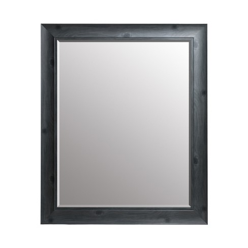 """24""""x30"""" Scoop Framed Beveled Wall Accent Mirror Gray - Gallery Solutions - image 1 of 4"""