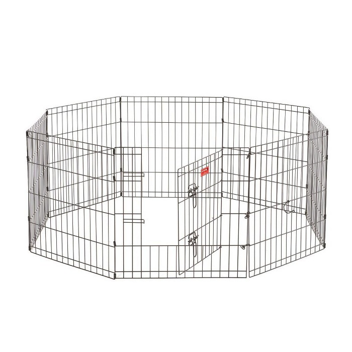 Lucky Dog Modular Pet Indoor Outdoor Portable Exercise Puppy Play Pen, 24 inches - image 1 of 6