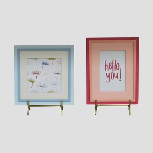 2pc Picture Frames Hello  - Bullseye's Playground™ - image 1 of 1