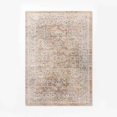 7'x10' Woven Persian Border Rug Rust - Threshold™ designed with Studio McGee