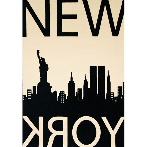 Abacasa Terra New York Black-Ivory 4x6 Area Rug - Sam's International - image 1 of 1
