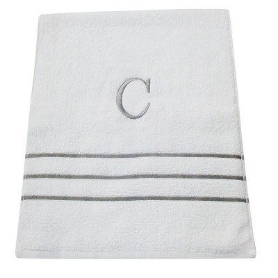 Monogram Hand Towel C - White/Skyline Gray - Fieldcrest®