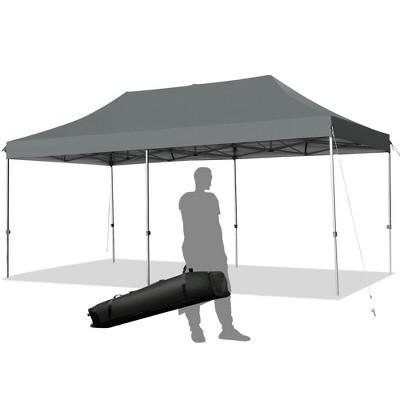 Costway 10'x20' Pop up Canopy Tent Folding Heavy Duty Sun Shelter Adjustable W/Bag