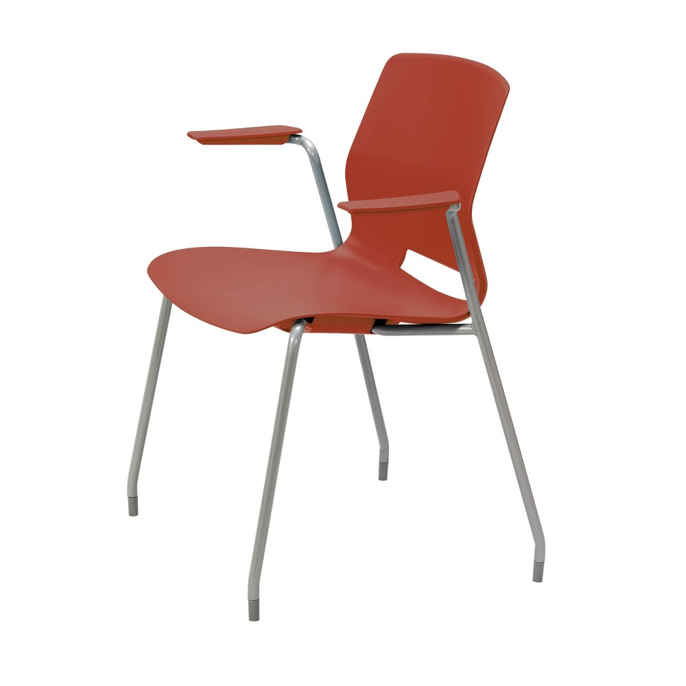Lola Office Stack Chair With Arms Peri Red Olio Designs