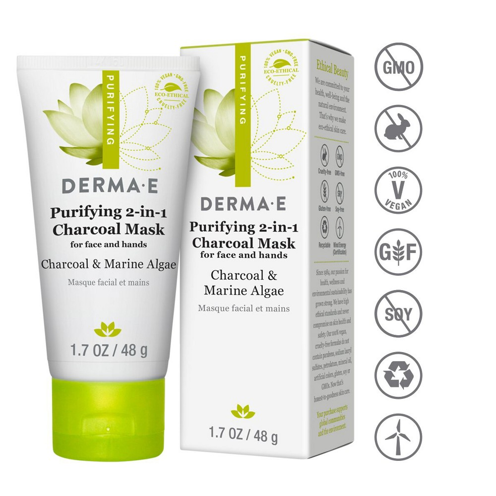Image of DERMA E Purifying 2-1 Charcoal Face Mask - 1.7oz