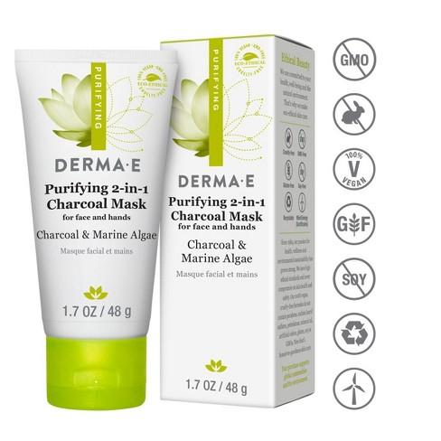 DERMA E Purifying 2-1 Charcoal Face Mask - 1.7oz - image 1 of 4