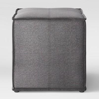 Troxell French Seam Small Ottoman Dark Gray - Project 62™