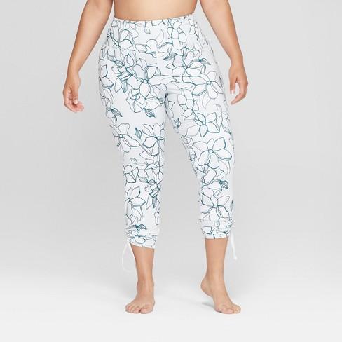 80c51fd7cd73b Women s Plus Size Printed Comfort 7 8 High-Waisted Leggings with Adjustable  Length - JoyLab™