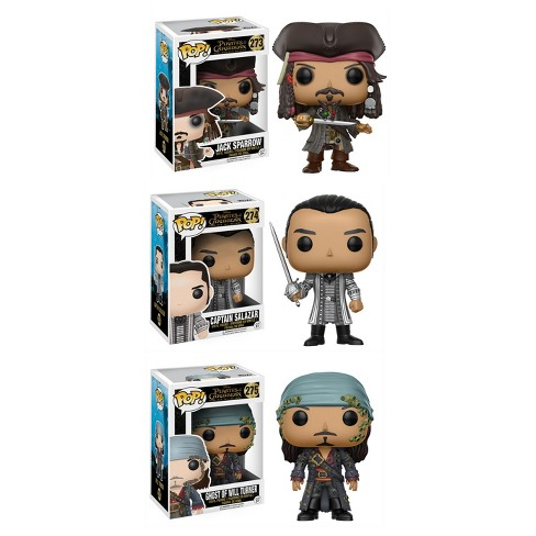 Funko POP! Disney Pirates of the Caribbean Collectors Set: Jack Sparrow, Captain Salazar, Ghost of Will Turner - image 1 of 4