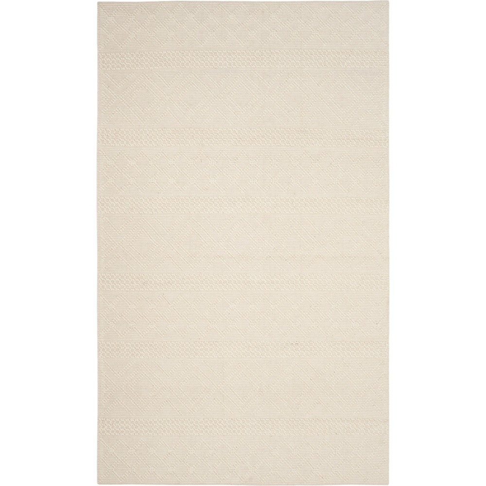 3'X5' Geometric Woven Accent Rug Ivory - Safavieh, White