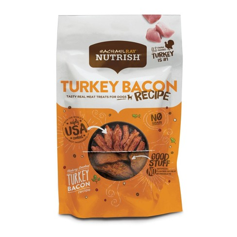 Rachael Ray Nutrish Hickory Smoked Turkey Bacon Dog Treats - 12oz - image 1 of 4
