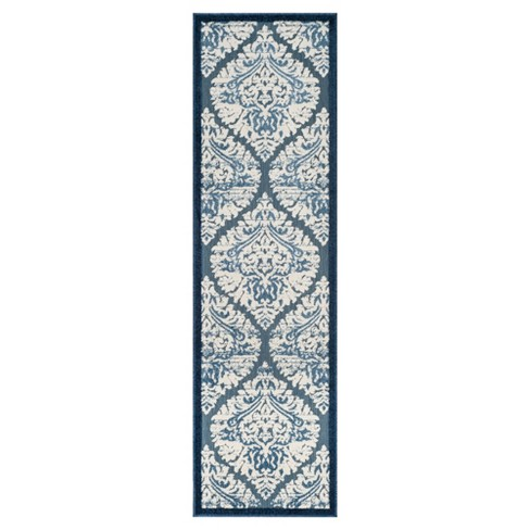 """Blue/Creme Classic Loomed Runner - (2'3""""X8') - Safavieh® - image 1 of 4"""
