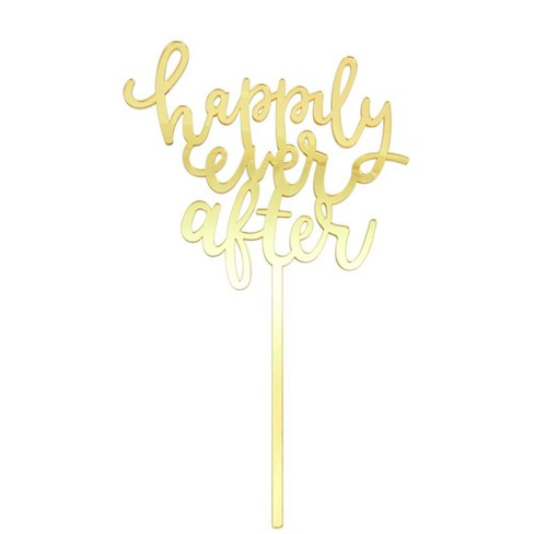 Gold Cake Topper Happily Ever After Spritz Target
