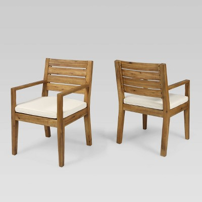 Nestor 2Pk Acacia Wood Dining Chairs - Christopher Knight Home