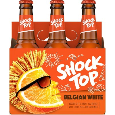 Shock Top Belgian White Wheat Ale Beer - 6pk/12 fl oz Bottles