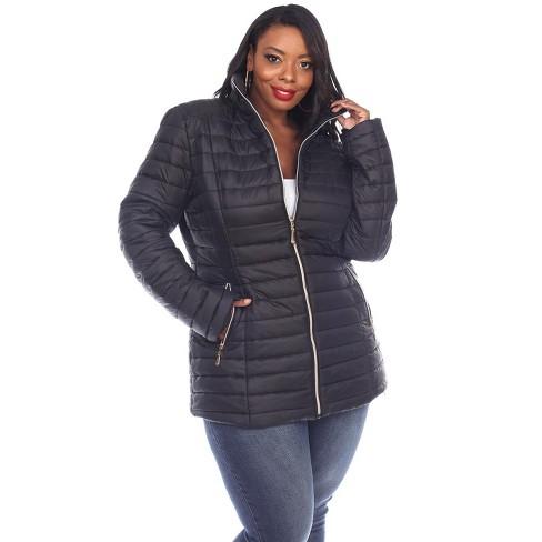 Plus Size Puffer Coat White Mark, Target Winter Coats Ladies