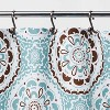 Medallion Shower Curtain Blue/Brown - Threshold™ - image 3 of 4