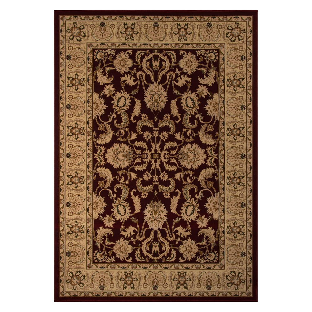 11'3X15' Floral Loomed Area Rug Red - Momeni