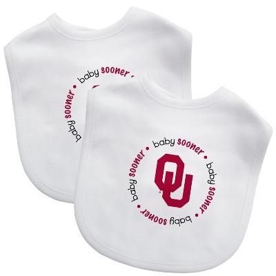 Oklahoma Sooners Baby Bib 2pk