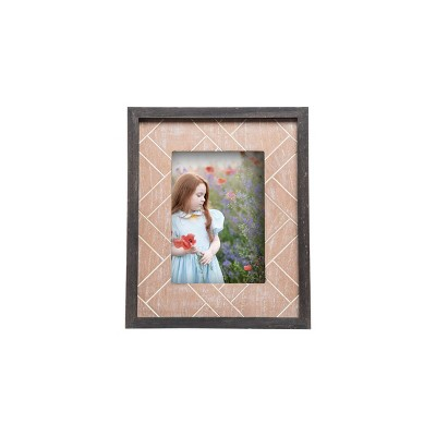 5 x 7 inch Distressed Pieced Wood Decorative Wood Picture Frame - Foreside Home & Garden