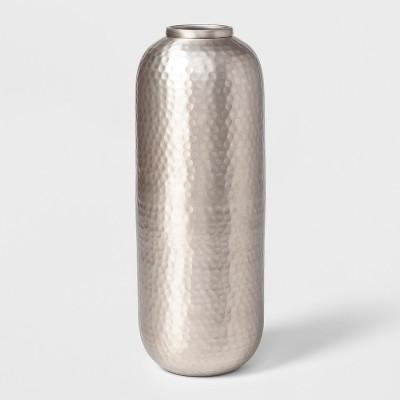 15  x 5.5  Hammered Metal Vase Silver - Threshold™