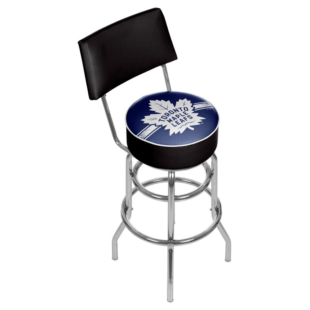 NHL Toronto Maple Leafs Swivel Bar Stool with Back