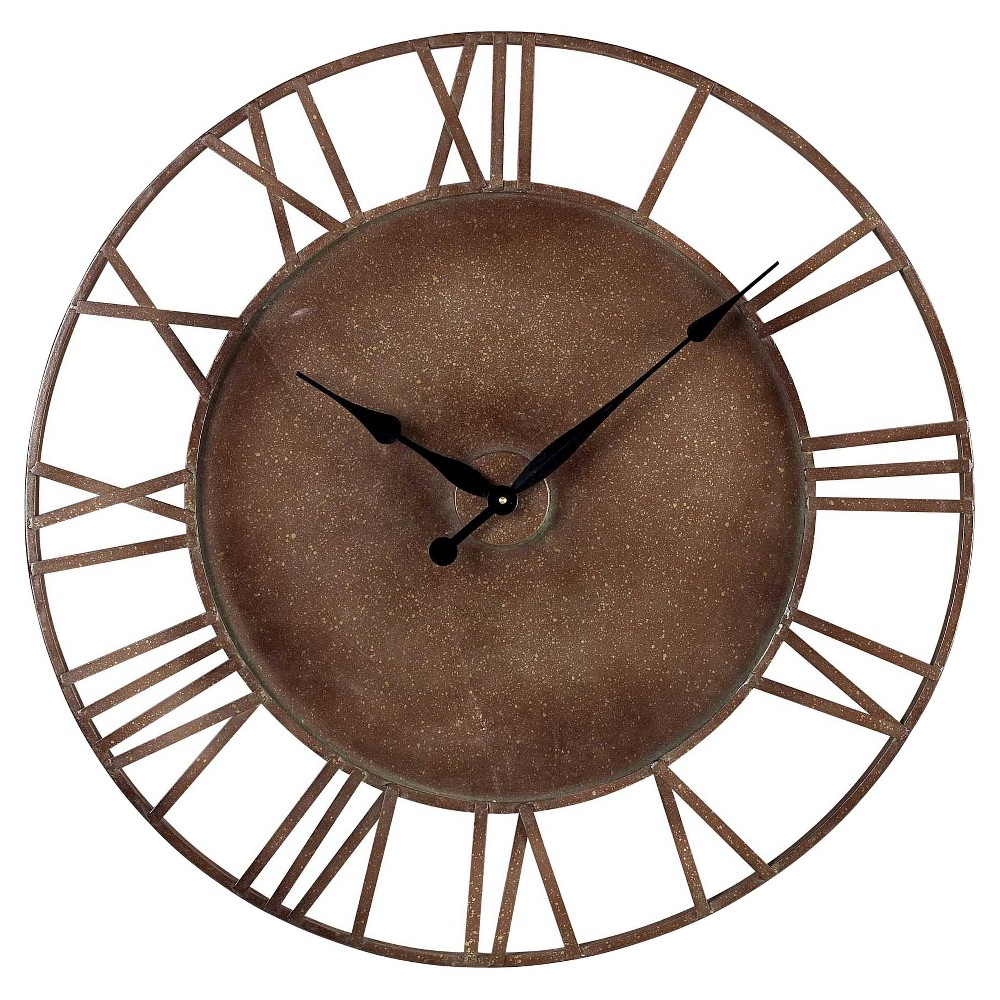 Parity 31.5 Round Wall Clock Bronze - Lazy Susan