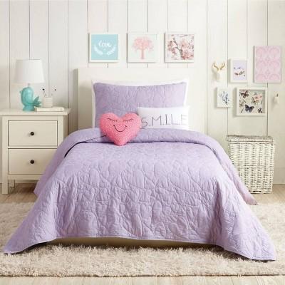 Heart Quilt Set Lavender - Urban Playground
