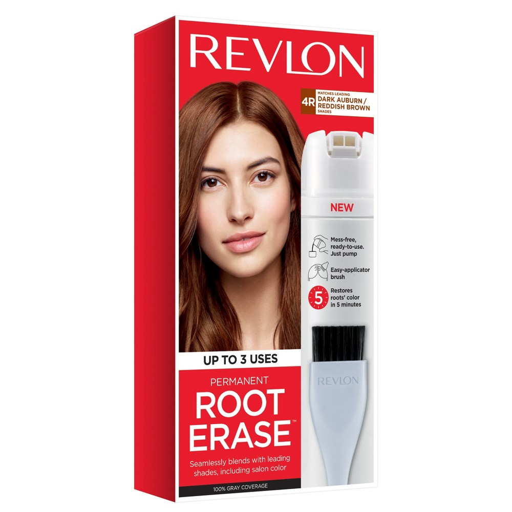 Image of Revlon Permanent Root Erase Roots Touch Up Hair Color Root Touch Up - Dark Auburn/Reddish Brown - 3.2 fl oz