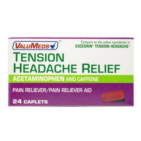 ValuMeds Tension Headache Relief Caplets - Acetaminophen - 24ct - image 1 of 3