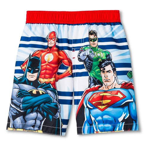 942f2a78aa Toddler Boys' Justice League Swim Trunks - Blue 3T : Target