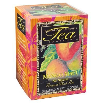 Hawaiian Islands Tea Company Mango Maui Black Tea - 20ct