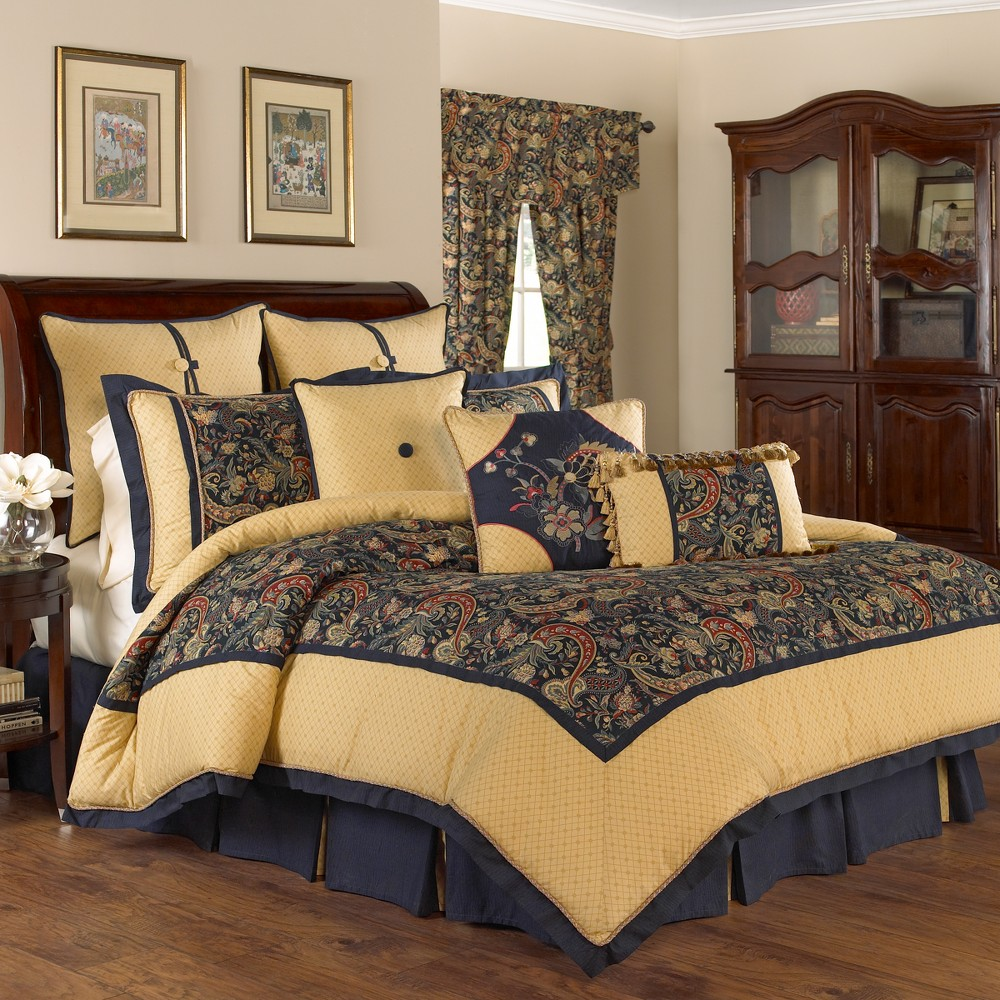 Jewel Floral Rhapsody Comforter Set (King) 4pc - Waverly, Multicolored