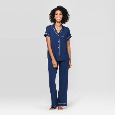 Women's Beautifully Soft Notch Collar Pajama Set - Stars Above™