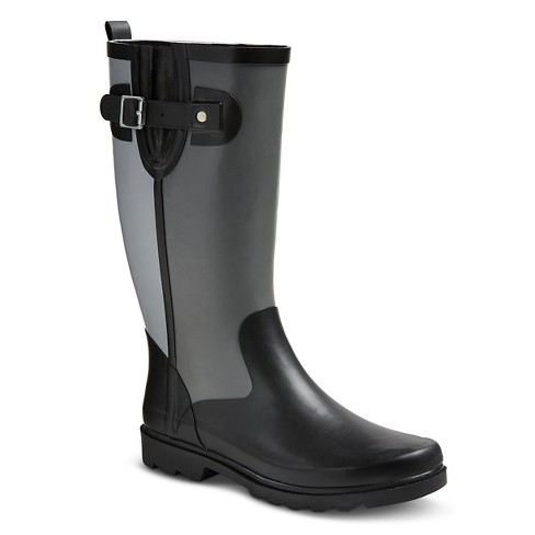 Women's Western Chief® Block Tall Rain Boots - Gray - image 1 of 3