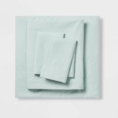 Twin/Twin XL Microfiber Solid Sheet Set Mint - Room Essentials™