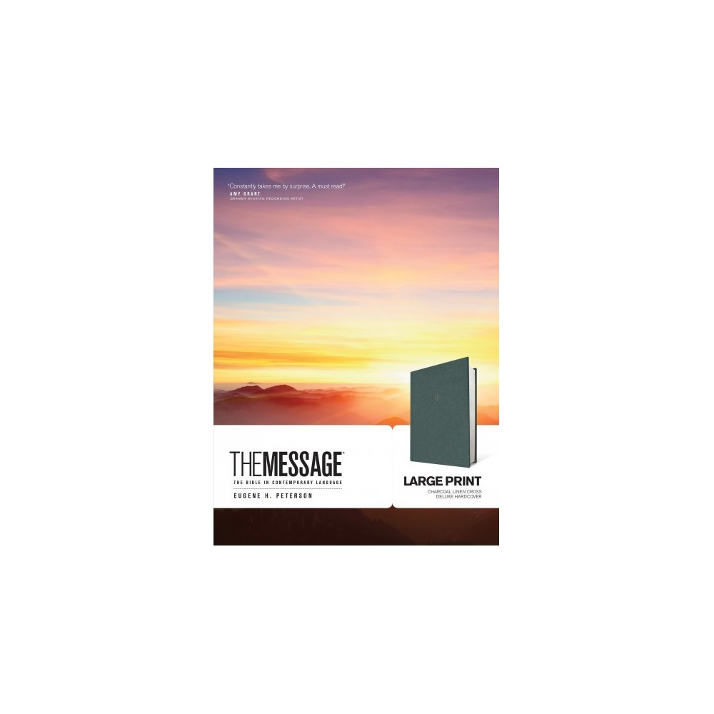 Message : The Bible in Contemporary Language, Large Print, Charcoal Linen, Cross - Dlx Lrg (Hardcover)