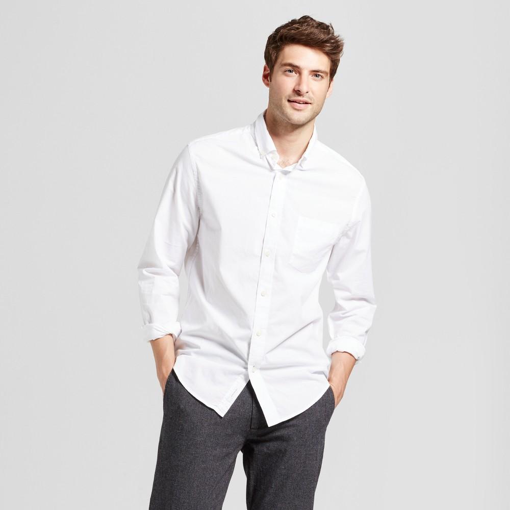 Men's Standard Fit Northrop Poplin Button-Down Shirt - Goodfellow & Co White M