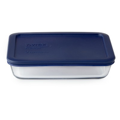 Pyrex 3 cup Food Storage Container Navy