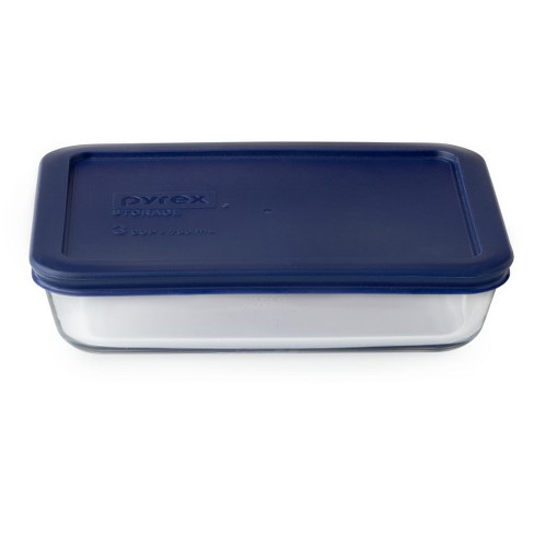 Pyrex 3 cup Food Storage Container Navy - image 1 of 1