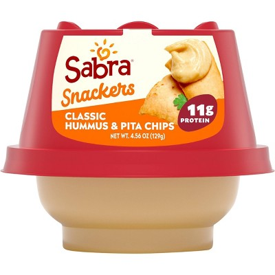 Sabra Classic Hummus with Pita Chips - 4.56oz