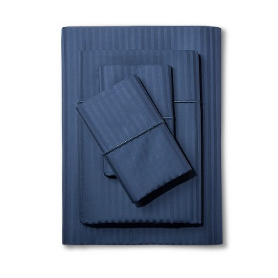 California King 500 Thread Count Damask Sheet Set Insignia Blue - Fieldcrest®