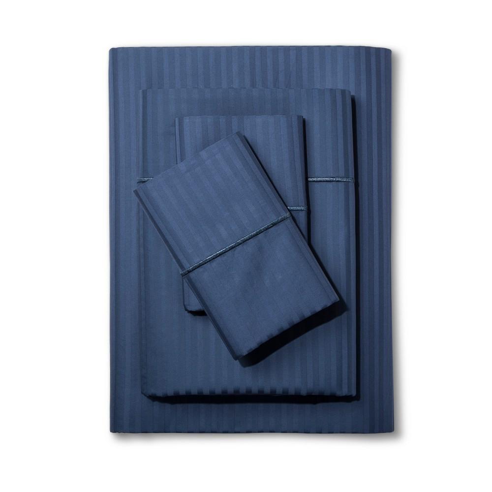 Damask Sheet Set (Queen) Insignia Blue 500 Thread Count - Fieldcrest