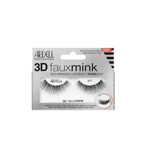 Ardell Eyelashes 3D Faux Mink 857 Lash - 1 Pair - image 1 of 4