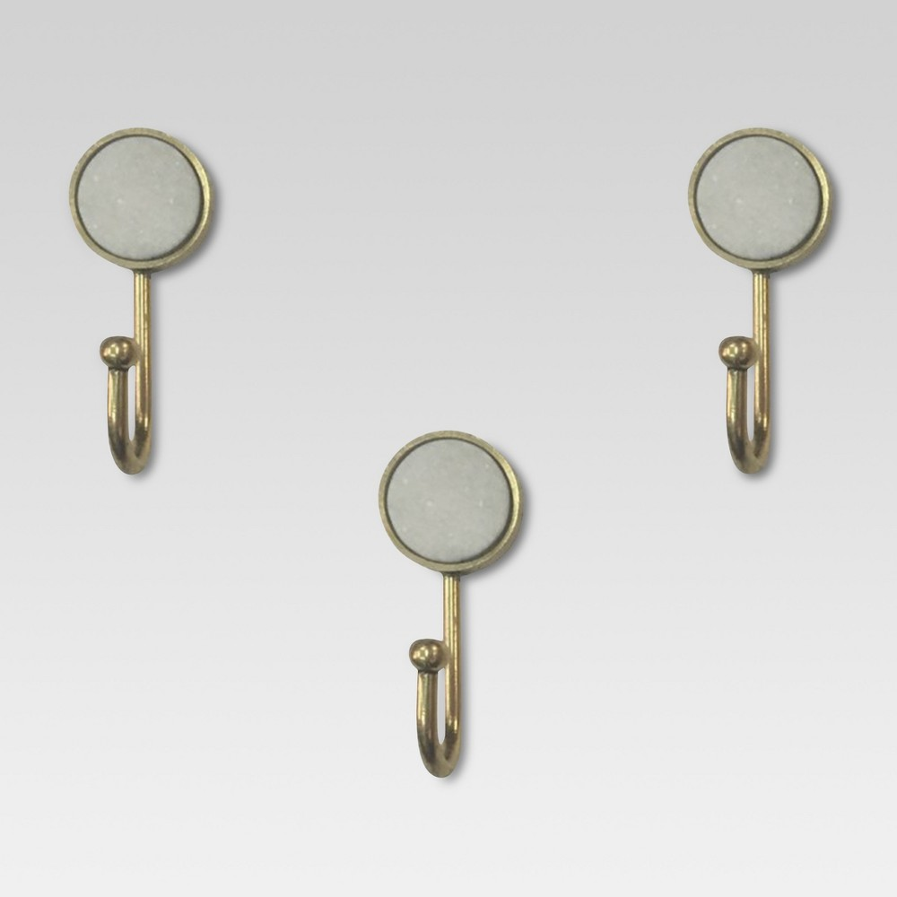 Marble & Gold Hooks set of 3 - Project 62