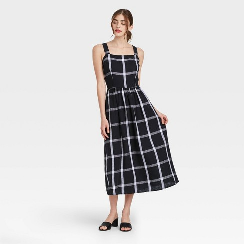 Women's Striped Sleeveless Buckle Back Dress - Who What Wear™ - image 1 of 4