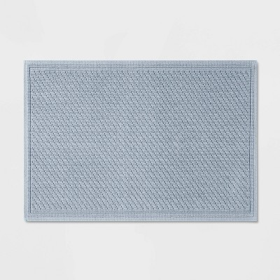 "21""x30"" Performance Solid Bath Mat Light Blue - Threshold™"