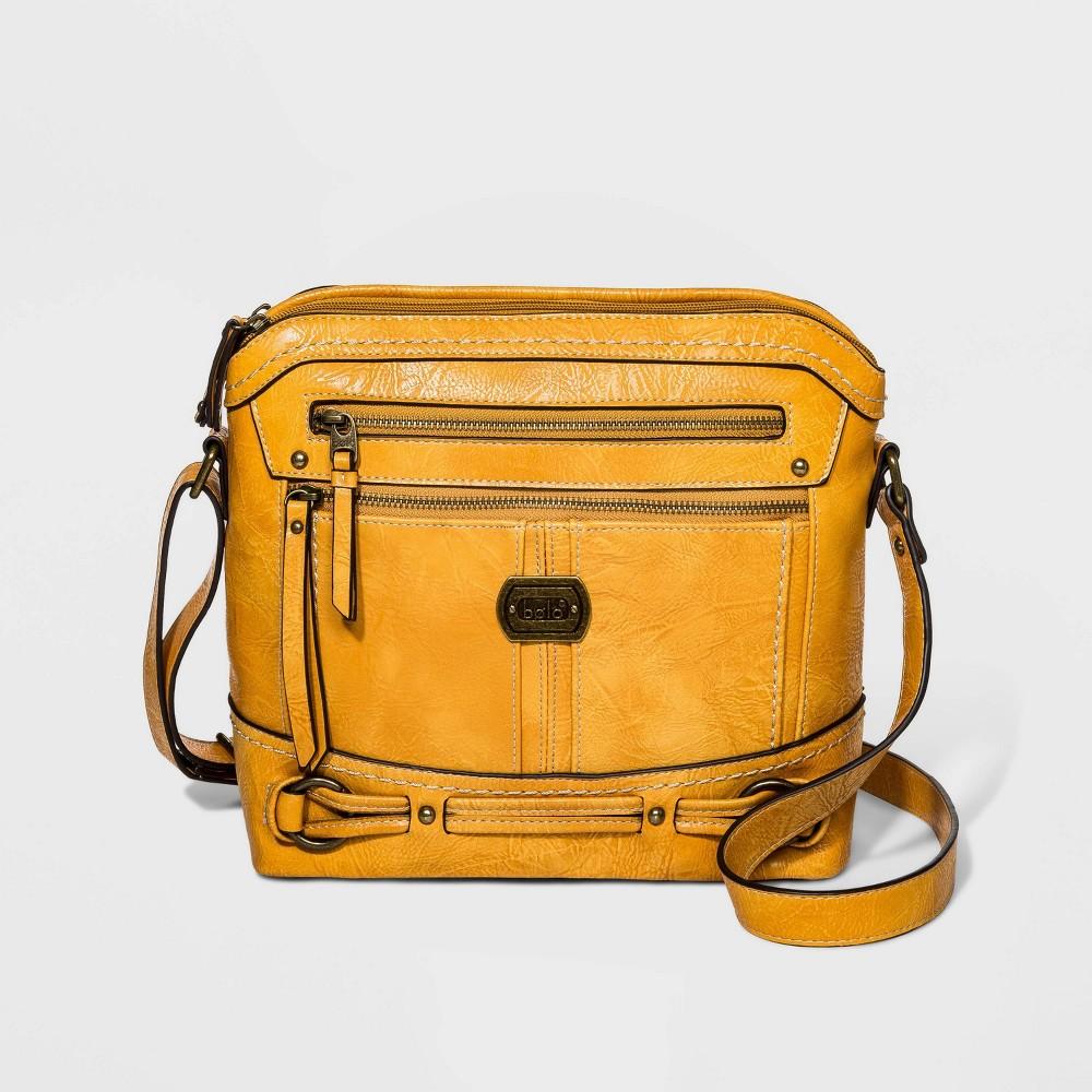 Image of Bolo Belt Detail Crossbody Bag - Mustard, Women's, Yellow